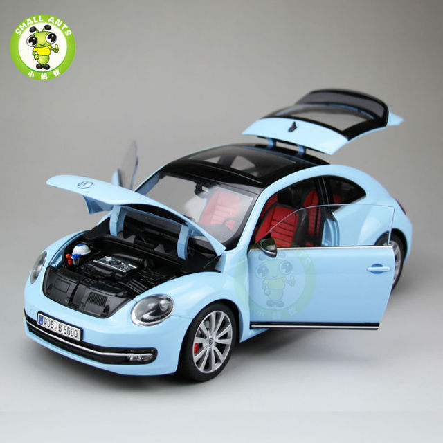 1 18 Vw New Beetle Cast Car Model Toys For Kids Gift Collection Welly Fx Models Blue