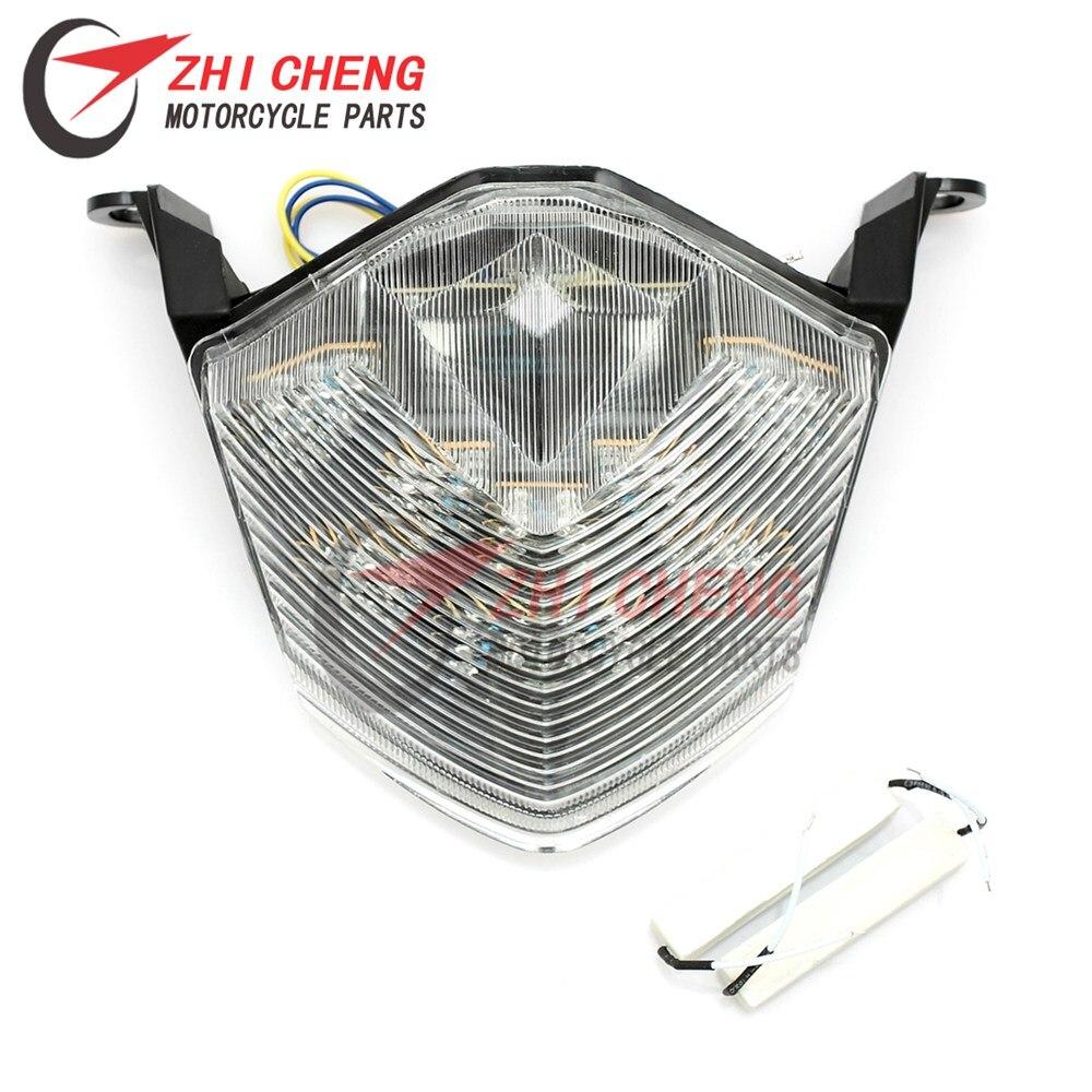 Motorcycle LED Rear Tail Brake Light Turn Signal Lights For Kawasaki Z750 Z1000 07-13 Ninja ZX10R ZX-10R 08-10  ZX-6R 2009-2012
