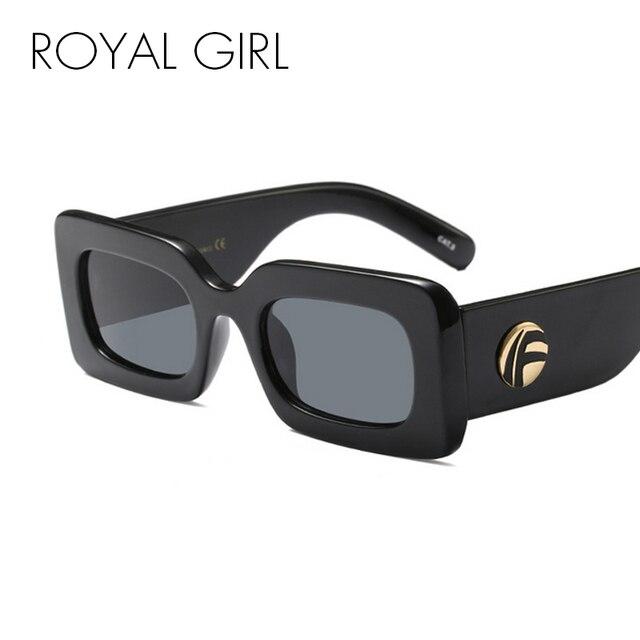 c0953097129 Royal girl new black square sunglasses women men brand design jpg 640x640 Black  square sunglasses
