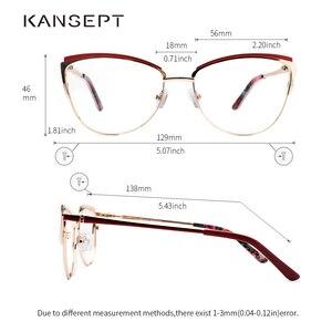Image 3 - מתכת נשים מתכת משקפיים מסגרת עין חתול משקפיים נשים קוצר ראייה אופטי ברור משקפיים מסגרת מותג מעצב בציר