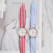 Bandage watch women's cloth table straps Sen Sen girls students Korean version of the simple personality trend girlfriends brothers watch male brothers a pair of high school students korean version of the simple trend leisure atmosphere personality