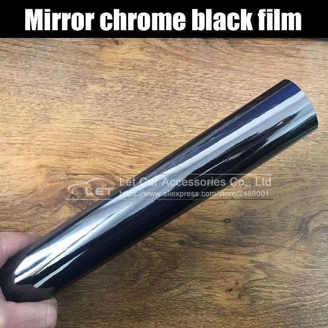 The Latest High Stretchable Mirror Black Chrome Mirror Flexible Vinyl Wrap Sheet Roll Film Car Sticker Decal Sheet