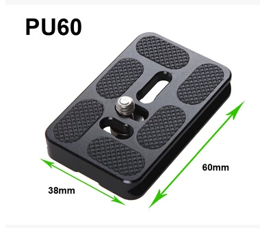 Camera tripod plate PU60 Universal Quick Release Plate for Arca Swiss Benro B1 B2 B3 J1 J2 Ballhead