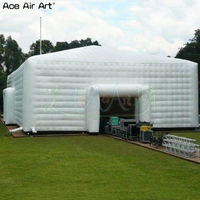 10 m Extreme honeycomd wall cube marquee tent inflatable events structure meeting cubic tent for commercial activity