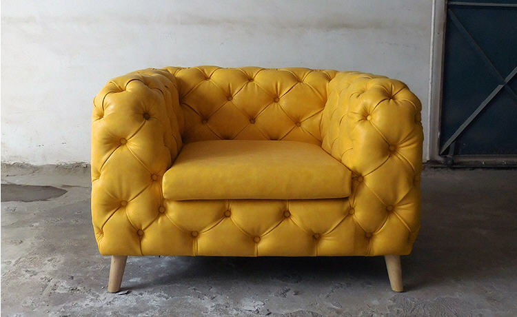 Chesterfield Sofa Couch Big-Chair Living-Room Home-Furniture Genuine-Leather Neoclassical