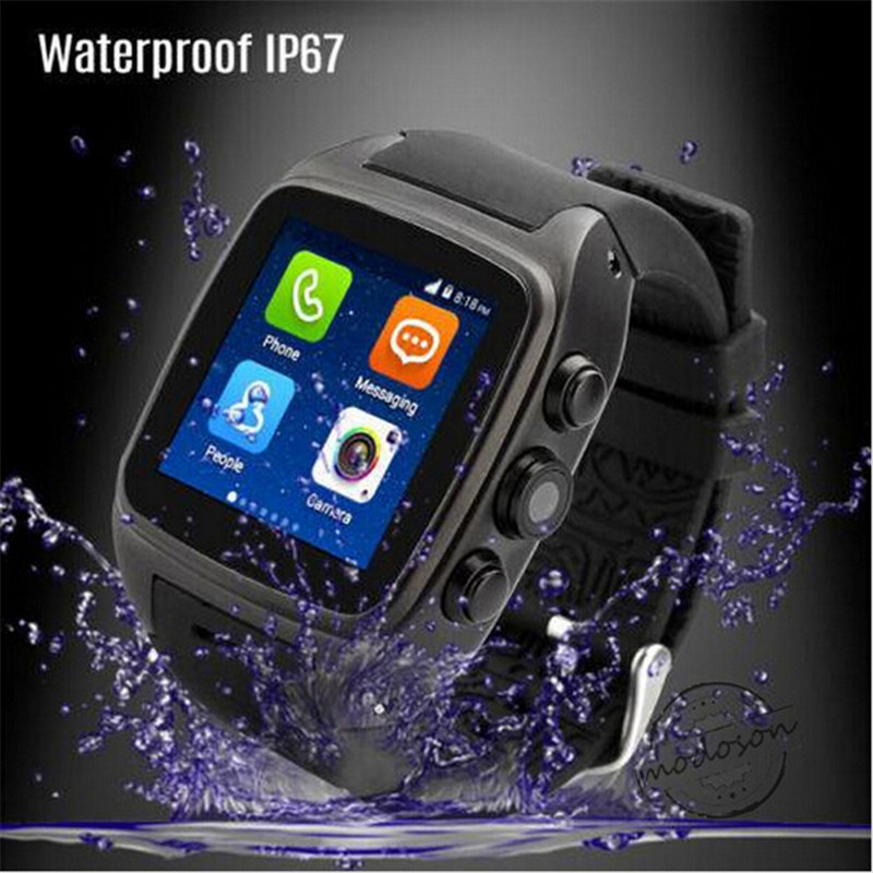 New smart Bluetooth Android font b Smartwatch b font WIFI Waterproof 5M Camera 3G GPS Dual