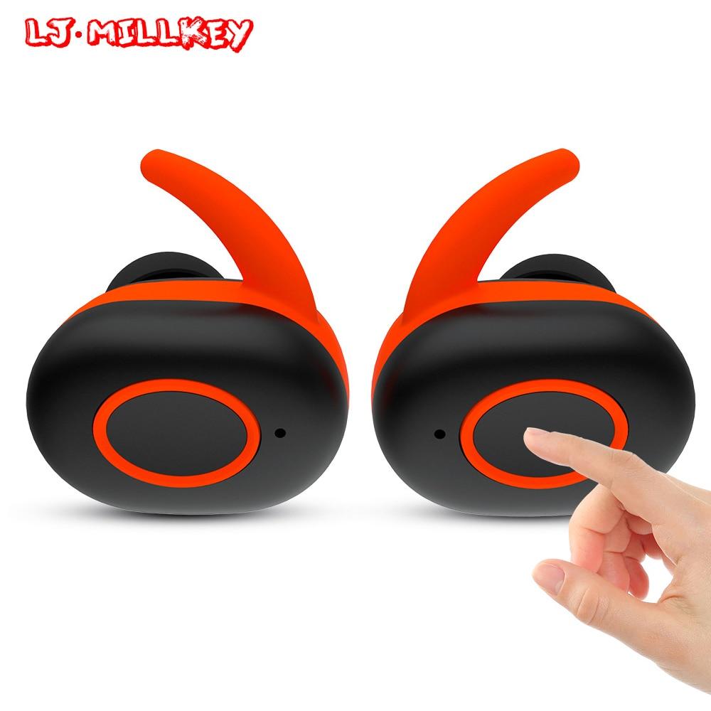Фотография Bluetooth Earphones TWS True Wireless Earbuds Bluetooth 4.2 Stereo Earbuds with Portable Charger Box LJ-MILLKEY YZ111