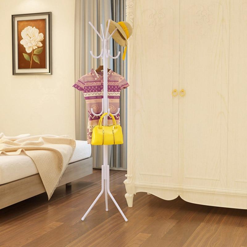 12 Hooks Iron Coat Rack Hanging Hanger Floor Interior Interior Hall Bedroom  Fashion Iron Clothes Rack Hats Bags Clothes Shelf
