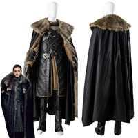 Game Of Thrones Saison 7 Jon Schnee Cosplay Kostüm Mann der Schlacht Anzug für Erwachsene Männer Halloween Party Kostüme