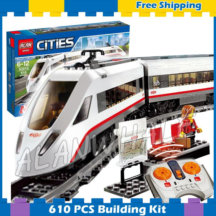 610pcs City Motorized Remote Control High-speed Passenger Train RC 02010 Model Building Blocks Gifts sets Compatible With Lego610pcs City Motorized Remote Control High-speed Passenger Train RC 02010 Model Building Blocks Gifts sets Compatible With Lego