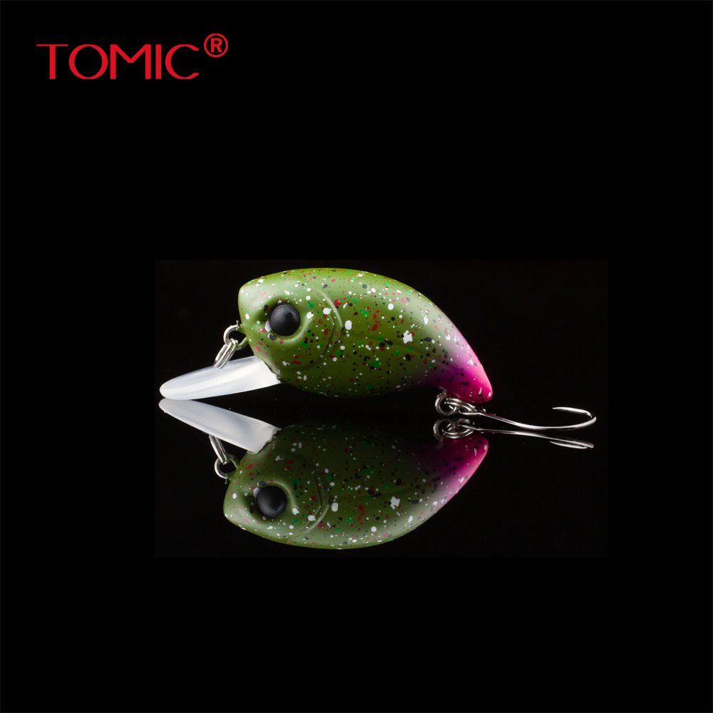 Tomic fishing plug 30mm shallow diving wobbler crank bait micro trout lures hard bait single hook термос термочашка tomic