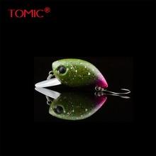 Tomic fishing plug 30mm shallow diving wobbler crank bait micro trout lures hard bait single hook