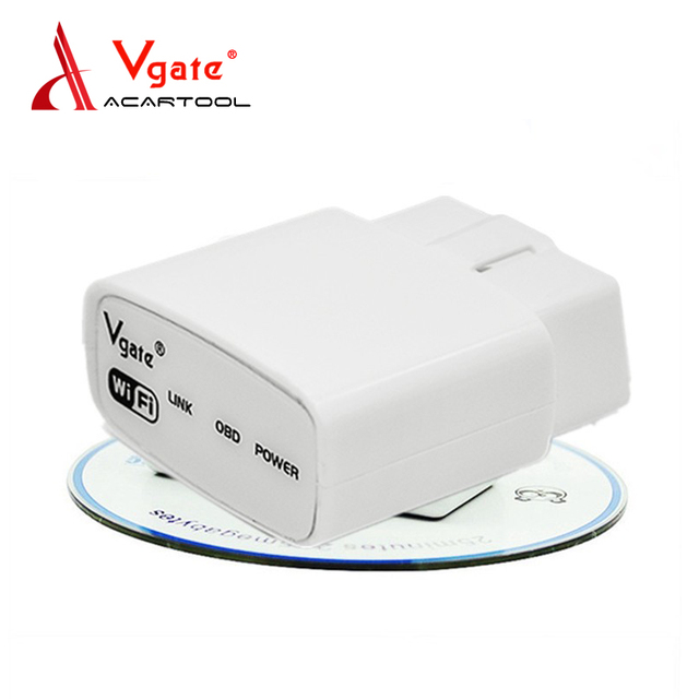 Newest Vgate iCar WIFI ELM327 OBD Code Reader iCar Elm 327 WIFI Automotive Scanner OBD Diagnostic  Interface For Android IOS