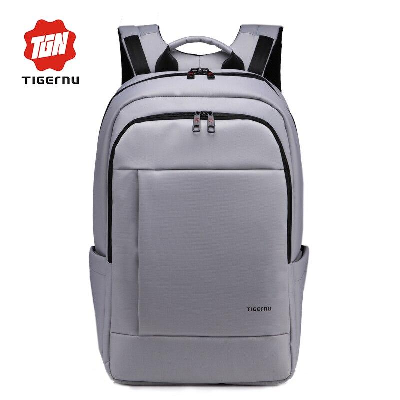 ФОТО Waterproof Nylon Tigernu Gear Backpack Laptop Bag Men's Summer Bags Backpacks Capacity Black Backpack Men Unisex Women Backpack