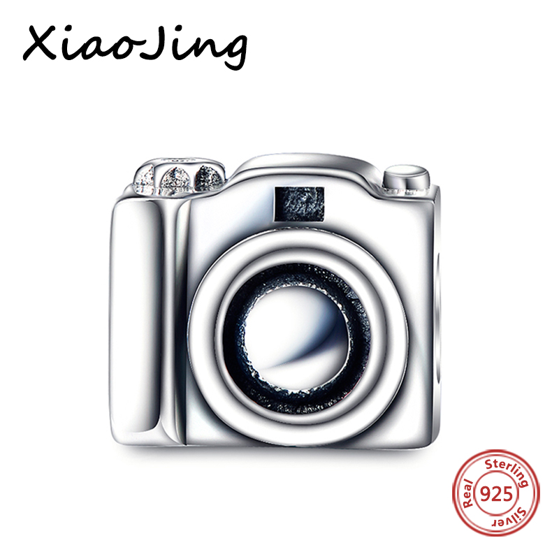 High quality 925 Sterling Silver Beads Camera Charms Bead Fit Original Pandora Bracelets Authentic pendant beads jewelry making