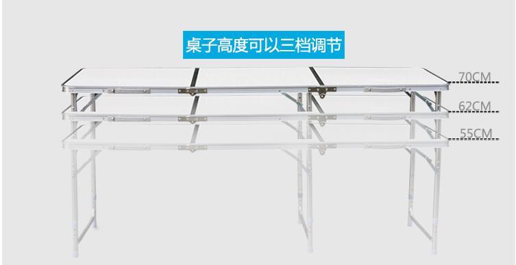 180 * 60 * 70 cm alumīnija sakausējuma saliekamais galds - Mēbeles - Foto 4