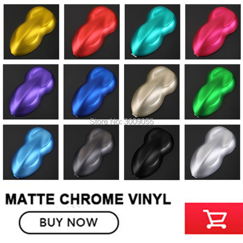 make small profits But quick turnove Car styling Matte Chrome Ice Vinyl Film  Matte Chrome Vinyl Wrap Auto film any size-in Car Stickers from Automobiles & Motorcycles