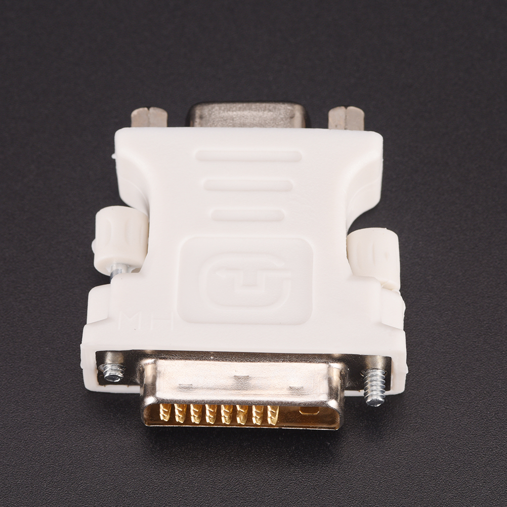 New 24+1 Pin DVI-D-D-M To VGA-F Adapter Video Computer Monitor Adapter - 25 Pin (Dual Link) DVI-D Male To 15 Pin VGA Female