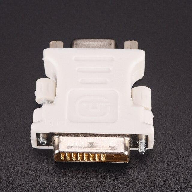 Nuevo adaptador de DVI-D-D-M a VGA-F de 24 + 1 Pin adaptador de Monitor de ordenador de vídeo-25 pines (enlace doble) DVI-D macho a hembra VGA de 15 pines