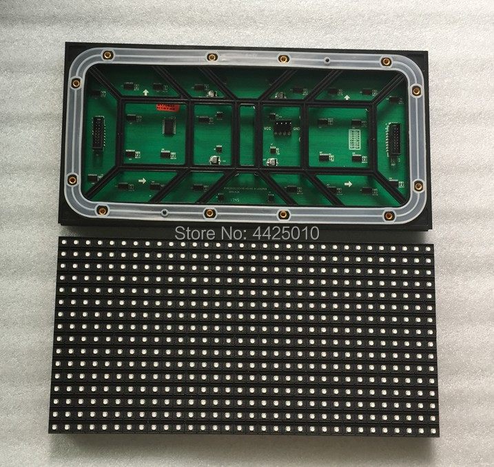 LED Display P10 Outdoor LED Module HUB75 Interface LINSN P10 SMD 1/4 Scan Current 3535 Led 320*160mm IP65  Containing Wire