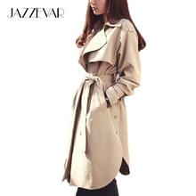 JAZZEVAR 2019 new spring autumn fashion Casual women's khaki