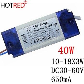 High PF แยก 10-18x3W 650mA LED 12x3 W 15x3 W 16x3 W 18x3 W 30 W 40 W DC30-60V LED อุปกรณ์สำหรับ LED