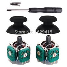 2 Sets 3D Analog Joystick 3 Pin Sensor Module Potentiometer with Thumb Sticks for Sony Playstation
