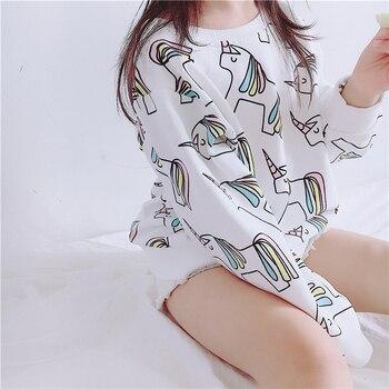 EnkeliBB Nuovi Arrivi Bambini Unicorn Modello Vestiti di Autunno Magliette e camicette Per Le Ragazze Dei Ragazzi Carino Autunno Felpe Delle Ragazze Del Bambino Vestiti di Qualità