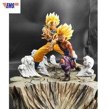 La bola del dragón del Anime Z el Padre y el Hijo del Hijo de Goku Gohan estatua de resina figura de acción de colección decoración G2624