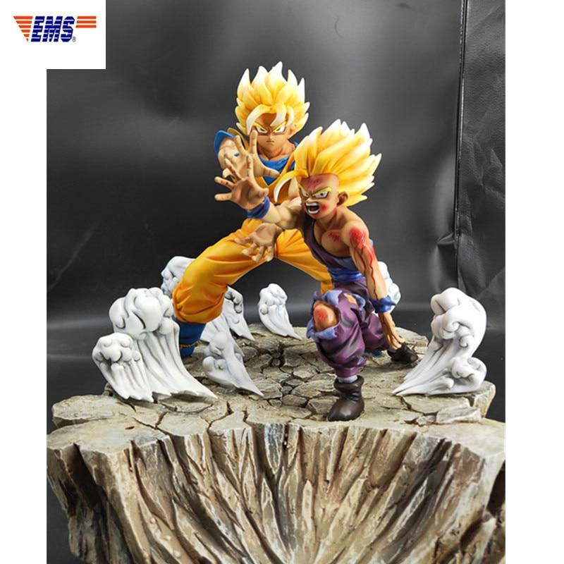 Anime Dragon Ball Z Padre E Figlio Onda Son Goku Gohan Statue In Resina Action Figure Collection Decorazione G2624