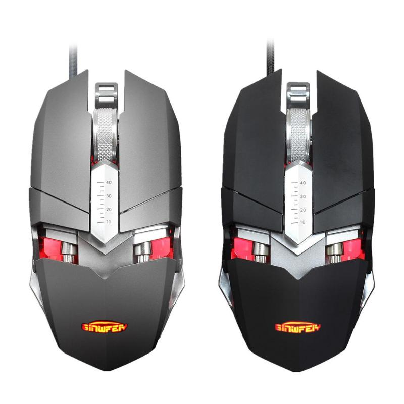 G2 USB Wired RGB LED Backlight Gaming Mouse One Key Switch 4000DPI Adjustable 9 Buttons Gaming Mice