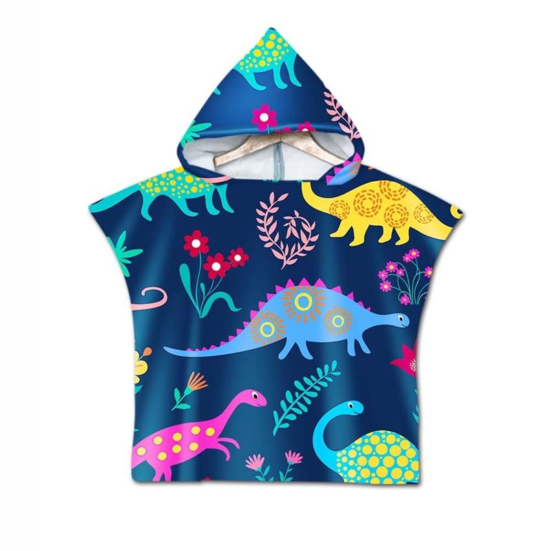 Marine Animal Hooded Towel Poncho Bath Swim Beach Coverup for Kids Adult