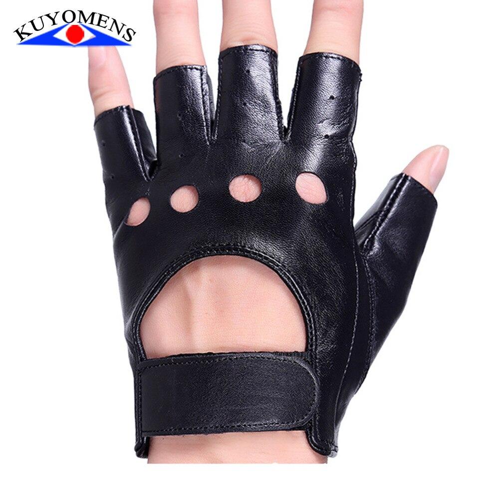 Shorty leather driving gloves fingerless - Women S 1 2 Finger Leather Driving Gloves
