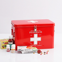 Family Medical Kits First Aid Storage Boxes Multi layered Medicine Organizer Metal Medical Gathering Case