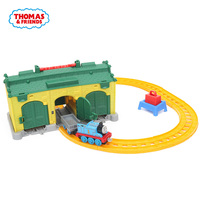 Thomas & Friends DGC10 Thomas the Train Tidmouth Sheds Diecast Metal Engine Playset Collectible Railway Wooden Train Track Toys