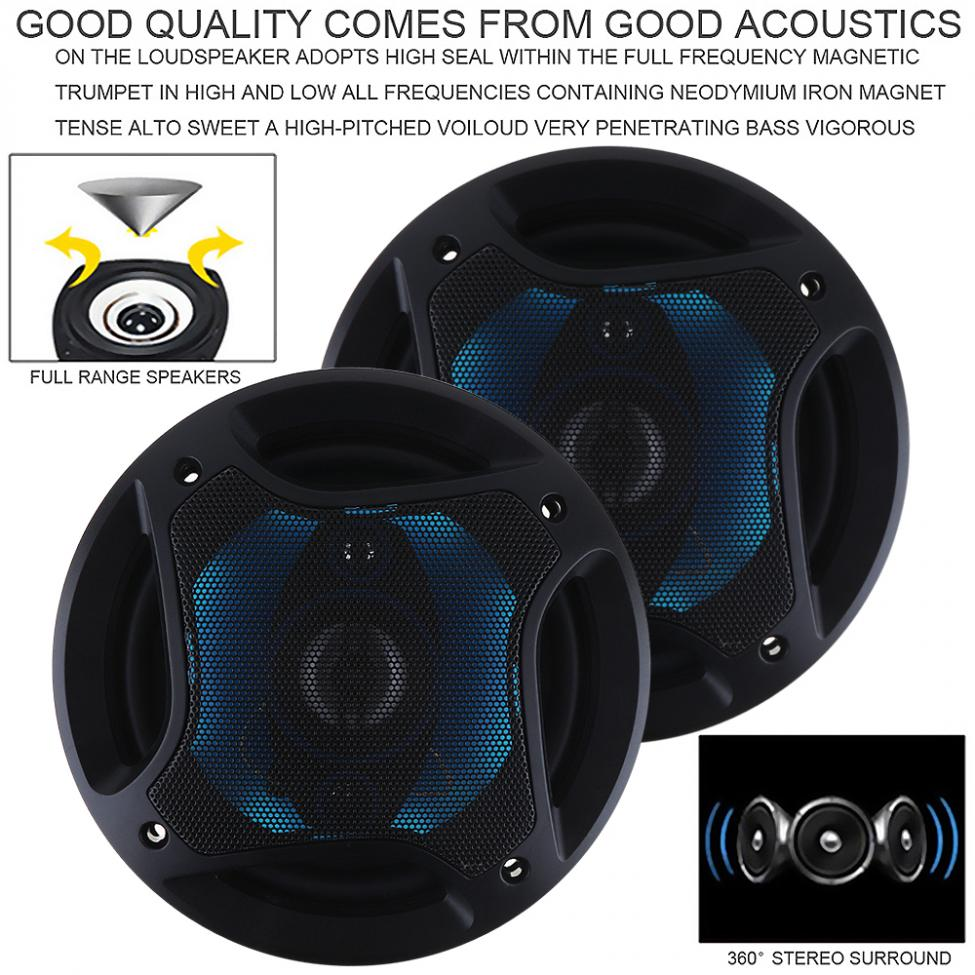 Image 5 - 2pcs 6.5Inch 180W 3 Way Auto Car Loudspeaker Coaxial Speakers Horn Audio Music Stereo Full Range Frequency Hifi Vehicle Speaker-in Coaxial speakers from Automobiles & Motorcycles