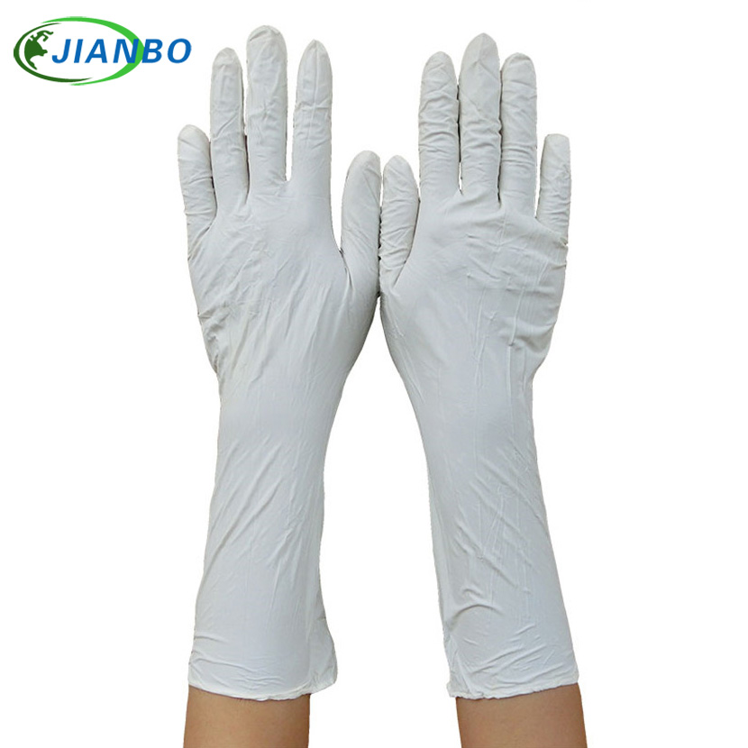 100pcs Long Disposable Nitrile Latex Medical Gloves Cleaning Home Food Cosmetic Protection Industrial Rubber Safe Working Gloves