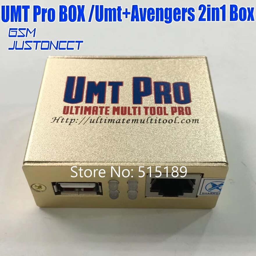 Gsmjustoncct date 100% d'origine UMT Pro boîte UMT + Avengers 2in1 boîte avec 1 USB câbles umt boîte