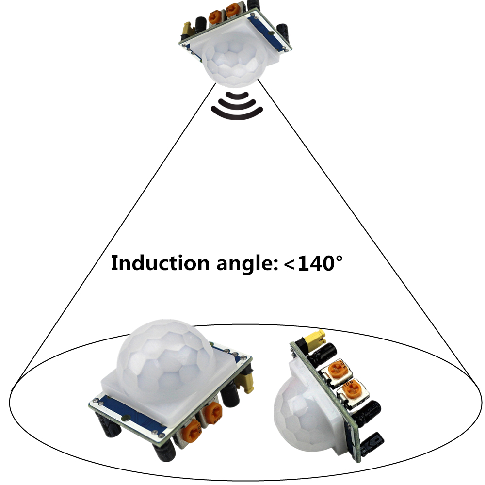 SR501 Motion Sensor Détecteur Module HC-SR501 Régler IR Infrarouge Pyroélectrique PIR Module AM312 Capteur Module pour arduino Diy Kit