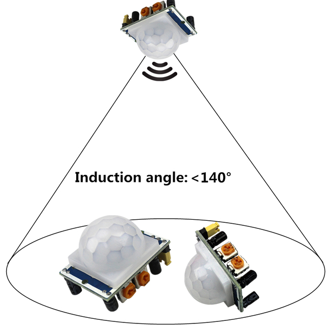 SR501 ruchu czujnik moduł HC-SR501 regulacja IR piroelektryczny czujnik podczerwieni PIR moduł AM312 moduł czujnika dla arduino Diy zestaw