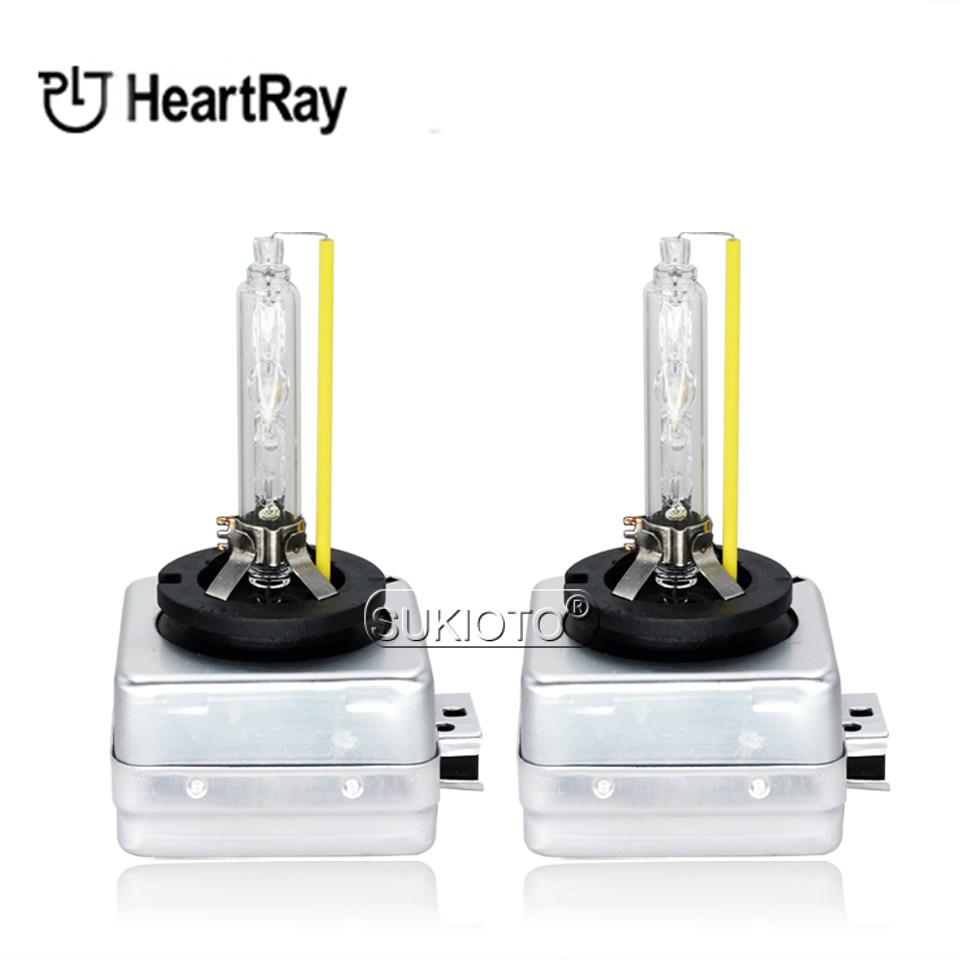 SUKIOTO 2PCS xenon D1S D2S D2H H7 H11 H1 HB3 D3S Heartray Born for Lens Bulb Super Fast Bright 35W xenon hid lights car Headlamp (6)