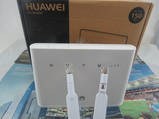 Unlocked Huawei B310 4G wireless gateway with 1 SIM, voice and data service +a pair  antenna
