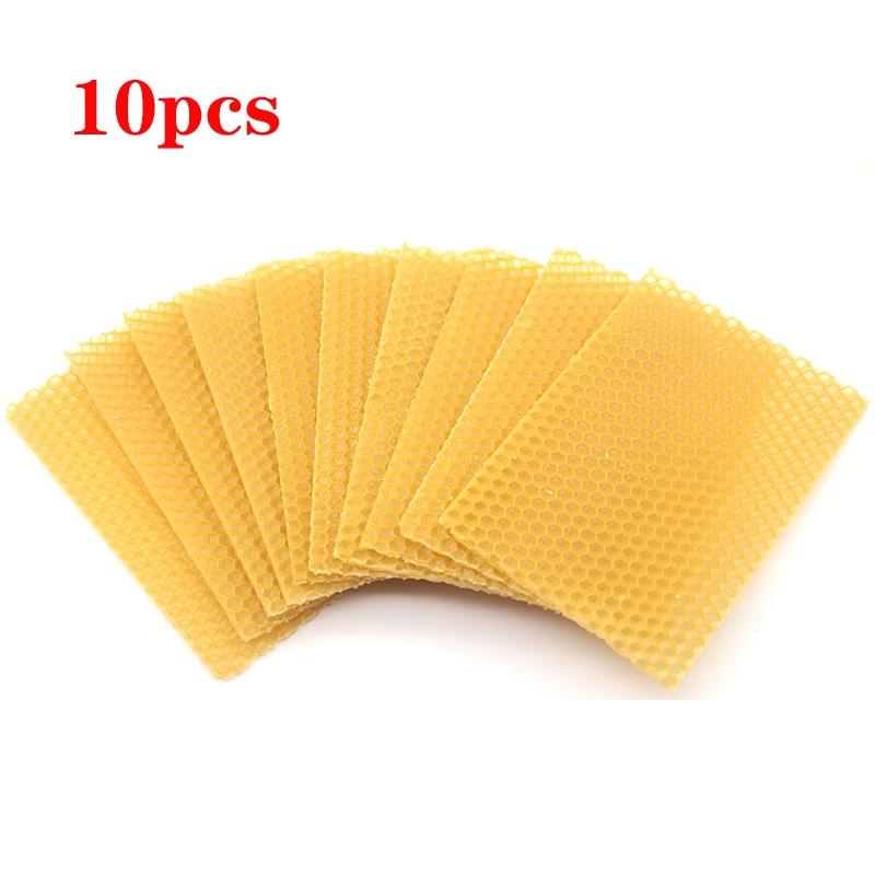 10pcs Bee Nest Beekeeping Honeycomb Foundation Beeswax Frames Honey Hive Garden Equipment Tool High Quality Honeycomb Foundation