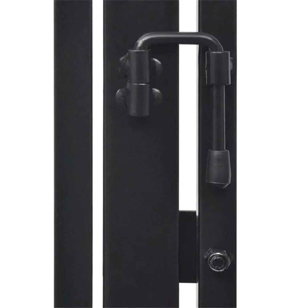 VidaXL Pet chimenea cerca acero negro portátil plegable seguro protector chimenea protección puerta mágica de seguridad para perros y gatos, mascotas - 5