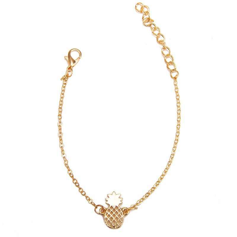 بساطتها الأناناس سوار للنساء داينتي هدايا BFF مجوهرات 2019 الصداقة رخيصة سبائك ارتفع الذهب الأساور أناناس
