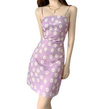 Women Sleeveless Dress Printed Sling Mini Female Summer Sexy Bag Hip Dresses