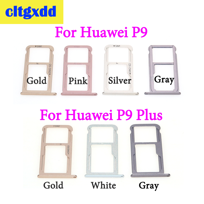 cltgxdd SIM Card Tray + Micro SD For Huawei P9 Plus Slot Adapter Socket Holder Repair Parts