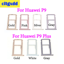 cltgxdd SIM Card Tray + Micro SD Card Tray For Huawei P9 Plus P9 SIM Card Slot Adapter Socket Card Tray Holder Repair Parts 50pcs 5000pcs nano sim card socket insert pull 6p phone micro card slot dedicated