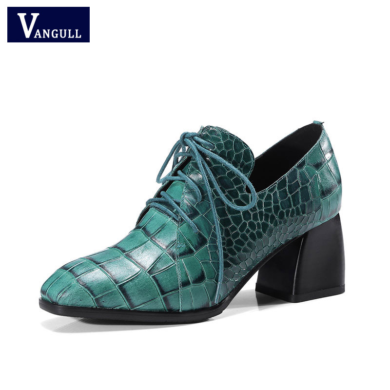 Brand New Women High Heels Autumn Pumps Corss tied Genuine Leather Prom Party Shoes Woman Basic