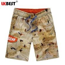 Lkbest новые модные мужские пляжные шорты 100% хлопок Пляжные шорты для будущих мам Бермуды мужские купальники марки стволы Европейский Размер повседневные шорты S5